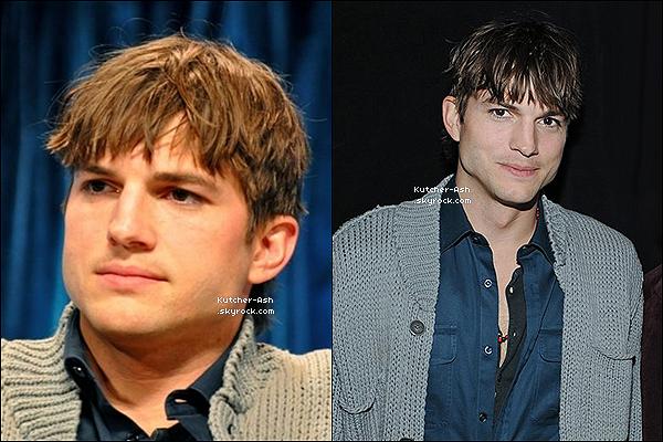""".  15 Mars 2012 : Ashton et ses co-stars de la série """"Mon Oncle Charlie"""" ont fait une conférence de presse. ."""