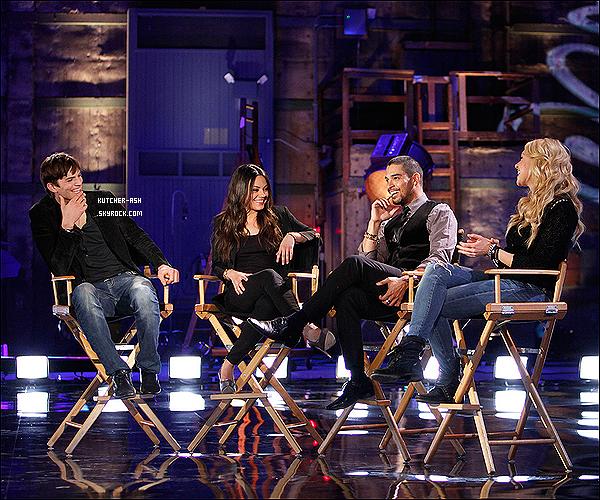 Ashton Kutcher été accompagné de Mila Kunis, Wilmer Valderrama, et Laura Prepon pour le 25e anniversaire de Fox, récemment enregistré. Les acteurs, se sont remémorer leur temps sur la série 'That '70s Show', qui a été diffusé de 1998 à 2006 et a lancé leur carrière. L'anniversaire spéciale de deux heures, qui sera diffusée le dimanche 22 Avril 2012 à 20:00, mettra également en vedette les séries : Ally McBeal, Beverly Hills 90210, The X-Files, etc !