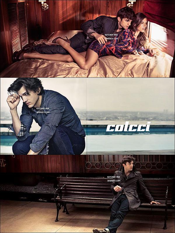""". Découvrez les photos et vidéos d'Ashton et Alessandra Ambrosio posent pour """"Colcci"""" édition 2011-2012. ."""
