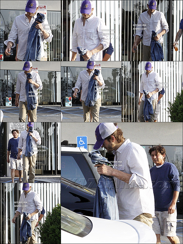 . 21/04/12 : Avant de partir à Whole Foods, Ashton Kutcher a été vu quittant un spa à Studio City. .