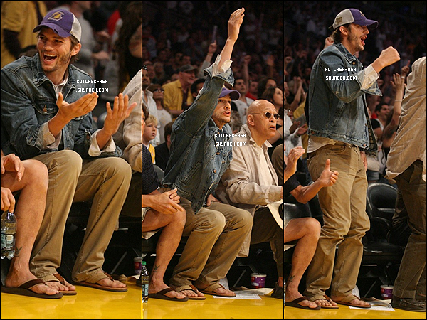 . 23/04/12 : Ashton a été vu allant au match des lakers à Los Angeles, on peut dire qu'il n'a que sa à faire ....