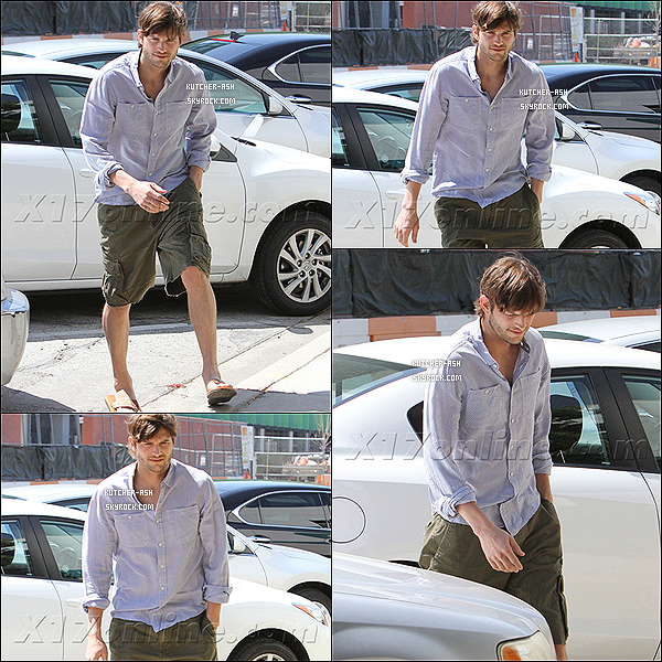 ". 18/04/12 : Ash' et son assistante vont au studio Warner Brothers, pour tourner un épisode de ""Two and a Half Men"". ."