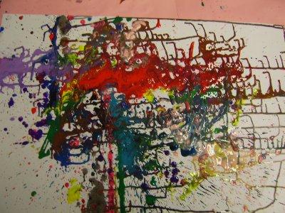 A La Manière De J Pollock La Vie En 2eme Maternelle