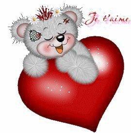 Nounours avec un coeur les animaux - Coeur nounours ...