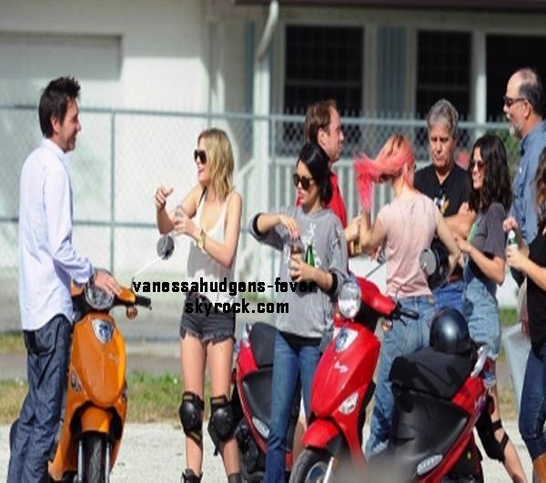 Vanessa sur le tournage de Spring Breakers!