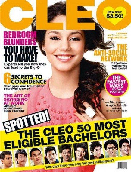 vanessa Hudgens fait la une du mois de Mars du magazine Cleo  au Singapour