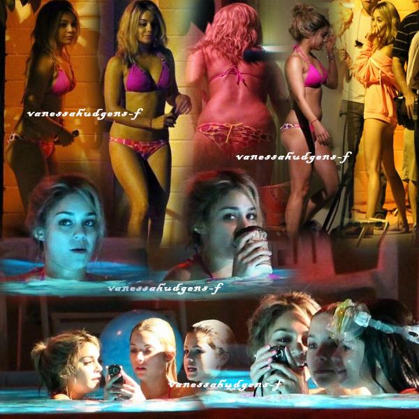 Ce 14-03-2012   Nouvelle photos de Vanessa Hudgens et ses co-stars sur le tournage du film spring breakers!