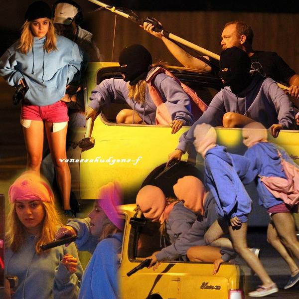 Ce 15-03-2012   Nouvelle photos de Vanessa Hudgens et Ashley Benson sur le tournage du film spring breakers lors de la scène du cambriolage du restaurant!!
