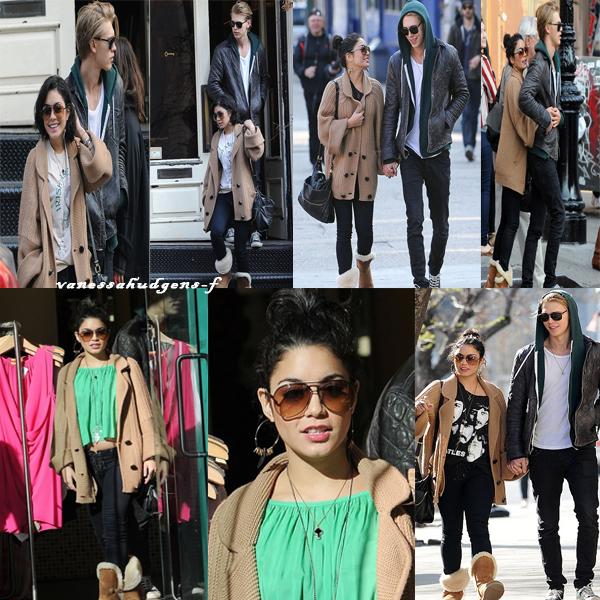 Ce 17-03-2012 Vanessa et Austin faisant du shopping et se baladant à Soho dans la ville de New York