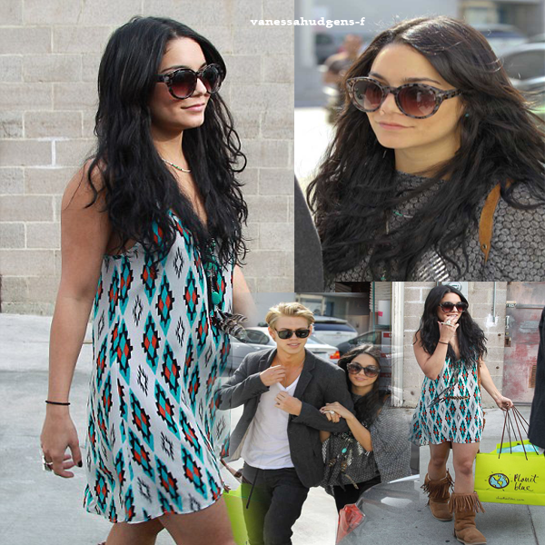 """Ce 11-04-2012 Nouvelles photos de Vanessa Hudgens et Austin Butler apercu faisant du shopping à """"planet blue""""! à Beverly Hills"""