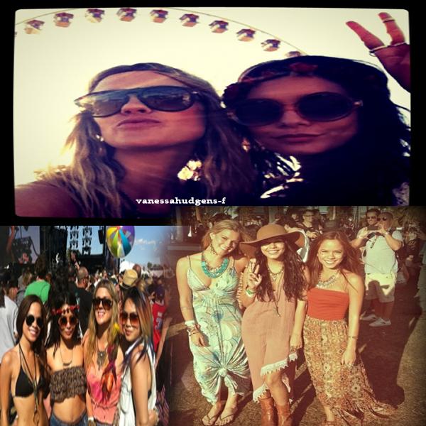 Nouvelles photos de Vanessa Hudgens posant avec des fans au Coachella Festival à Indio!