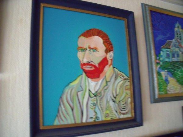 auto-portrait d'après van gogh