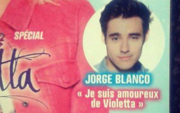 Jorge blanco je suis amoureux de violetta