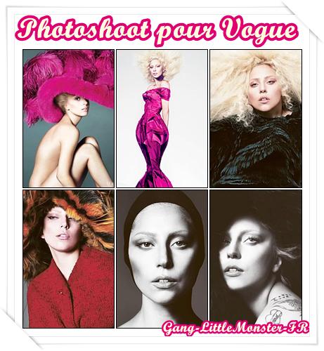 Lady Gaga en couverture de Vogue en Septembre !