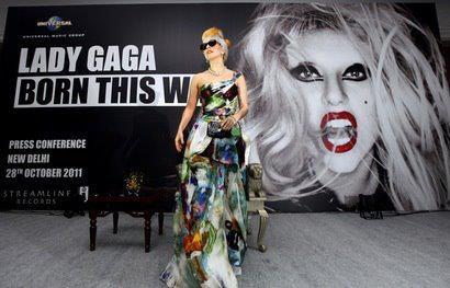 Lady Gaga -  conférence de presse à New Delhi (Inde)