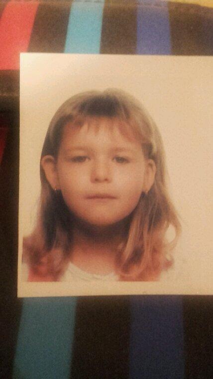 Je viens de retrouver une photo de moi étant gamine..