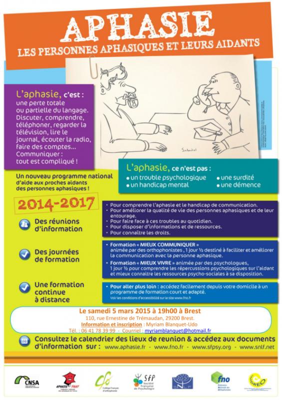 Session de sensibilisation pour les aidants de personnes aphasiques
