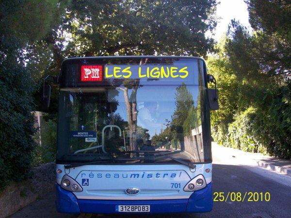 Lignes au LUNDI 30 AOUT 2010
