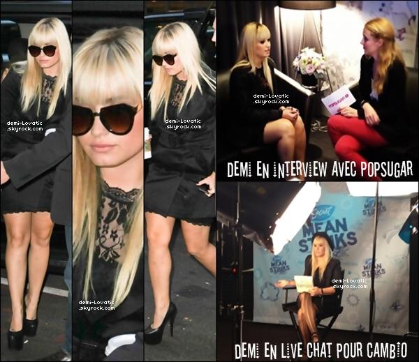 . 11/10/2012 : Demi a été aperçue se rendant dans un bâtiment .(N.Y)..