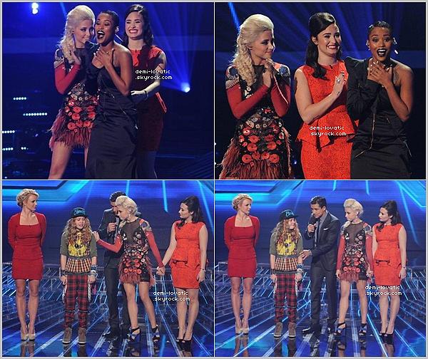 . 22/11/12 : Demi a assisté au huitième live show d' X-Factor U.S.A .  Voir le Live Show → Live Show