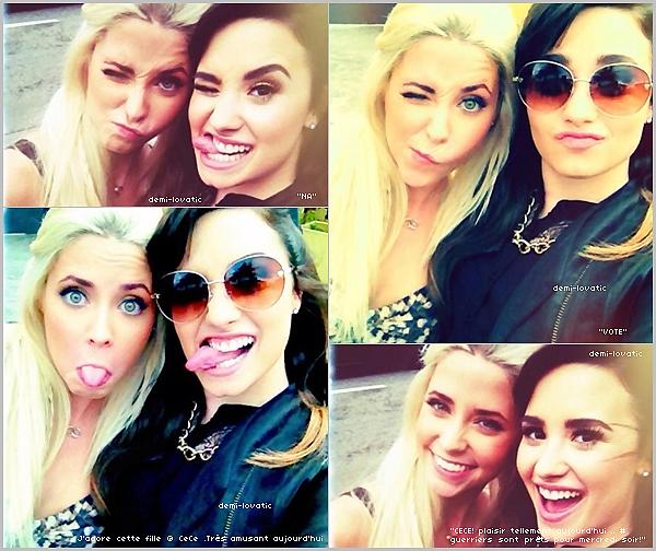 . 01/12/2012 : Demi Lovato a fait du shopping avec Cece Frey .   Sa protégée dans X Factor .
