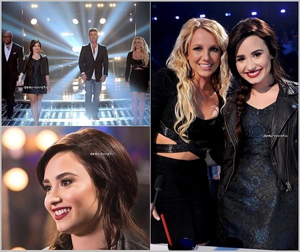 . 05/12/12 : Demi a assisté au  onzième live show d' X-Factor U.S.A .  Voir le Live Show → Live Show