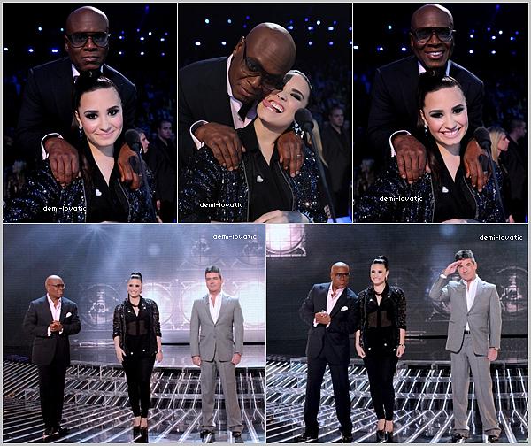 . 12/12/12 Demi a assisté au  treizième live show d' X-Factor U.S.A . Voir le Live Show → Live Show