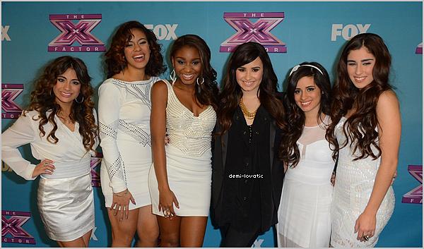 . 19/12/2012 : Demi a assisté au  quizième live show d' X-Factor U.S.A . Voir le Live Show → Live Show