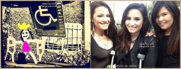 """.  Demi Lovato fait la couveture du magazine """"Cosmo on Campus"""" . + photo de famille . + photo de Dem' dans une émission . + photo twitter ."""