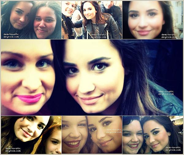 . 19/02/2013 : Demi Lovato était aux studios VEVO . ( Londres ) . + photo avec des fans .