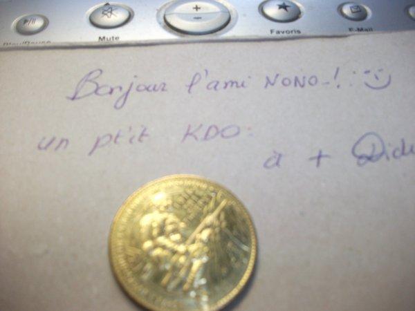 bonjour a tous ,voila un très beau K.D.O DE MON AMI Didier une belle médaille du 95è anniversaire de la bataille de la Somme 1914-2011  merci mon ami Didier ,nono