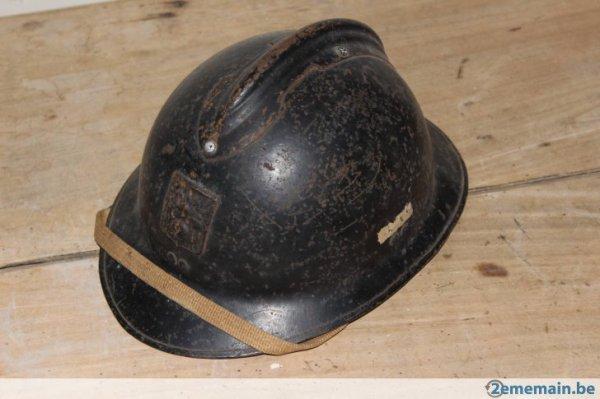 bonjour a tous ,voila mon casque défense passive ww2 ,après restauration ,nono
