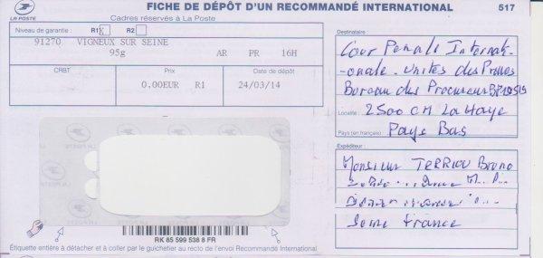 Plainte contre la France devant la Cour  Pénale Internationale