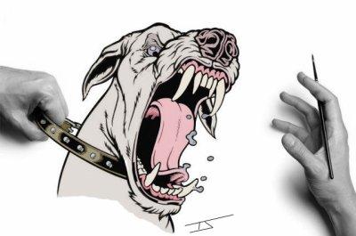 Résultats de recherche d'images pour «chien enragé dessin»