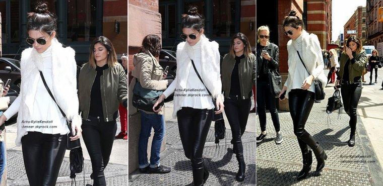 Kylie, sortant du coiffeur Andy Lecompte, le 13 mai 2014, à West Hollywood + Kendall et Kylie étaient à New York, le 6 mai 2014.