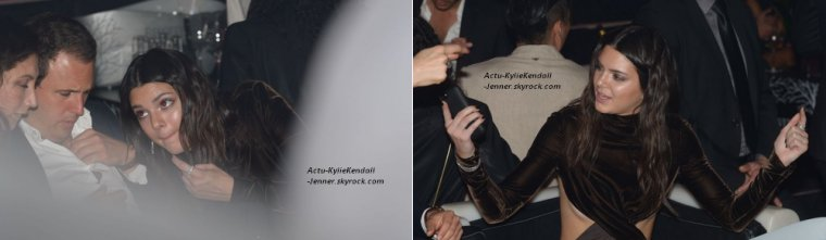 Kendall Jenner à Cannes, au VIP Room, à l'occasion de la soirée mix de Paris Hilton, le vendredi 16 mai 2014 + Kendall, sur le tapis rouge du Palais des Festivals, montant les marches pour la cérémonie d'ouverture du 67e Festival de Cannes et la projection du film Grâce de Monaco. Cannes, le 14 mai 2014.