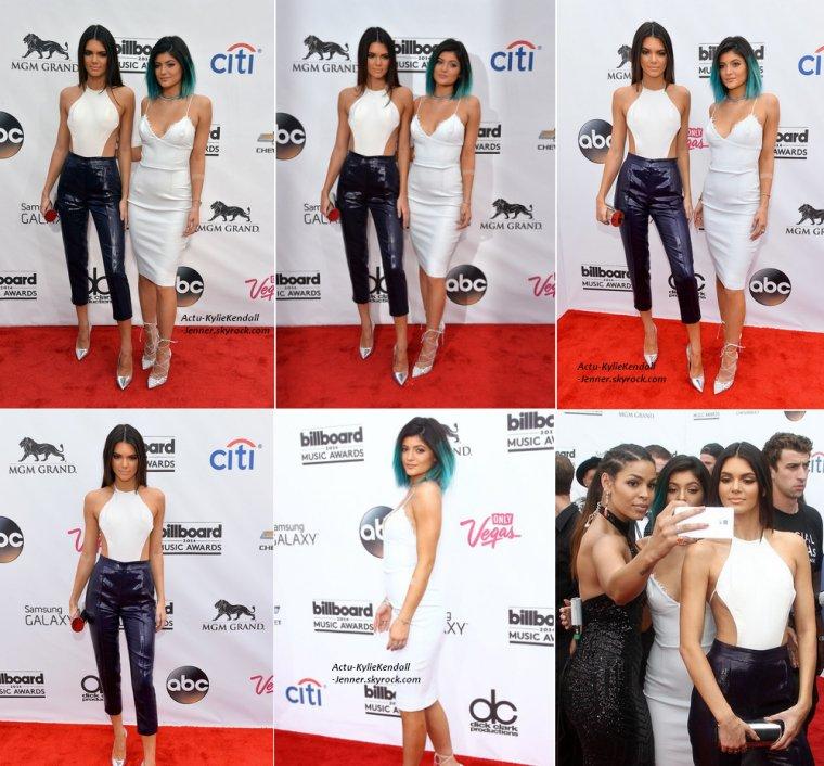 Kendall et Kylie lors des Billboard Music Awards 2014 au MGM Grand Garden Arena, à Las Vegas, le 18 mai 2014.
