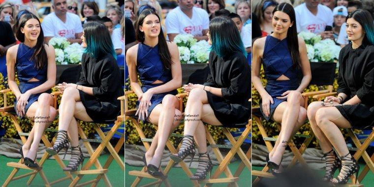 Kendall et Kylie, lors de l'émission Good Morning America, le 3 juin 2014, à New York.