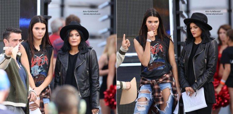 Kendall et Kylie, lors des répétitions des MuchMusic Video Awards, à Toronto, le 14 juin 2014.