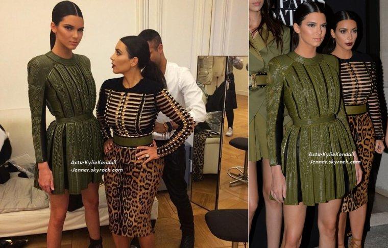 Kendall et sa soeur Kim ont assisté au gala de la Vogue Paris Foundation au Palais Galliera à Paris, le 9 juillet 2014 + Kendall défilant pour Chanel lors de la Fashion Week, le 8 juillet 2014, à Paris.