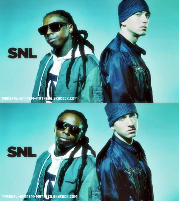 Photoshoot Eminem & Lil Wayne Pour SNL