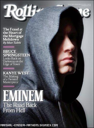 Eminem Sur la couverture Rolling Stone