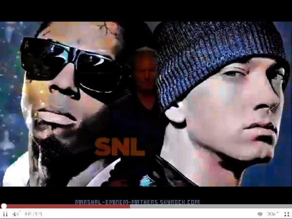 Eminem & Lil Wayne en direct sur SNL