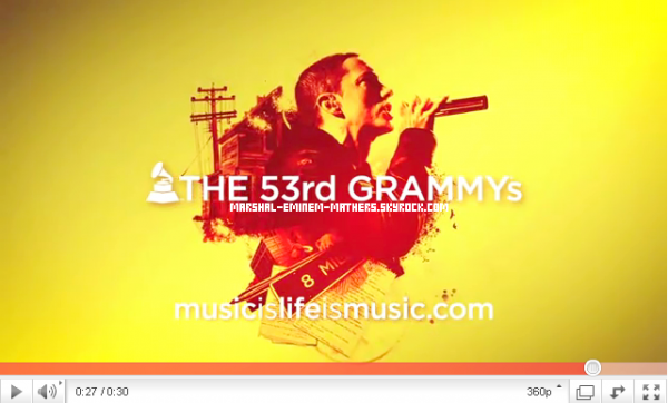 Publicité Pour Les Grammy Awards  Texte rédigée et Traduit par moi Tu prend Tu crédite !