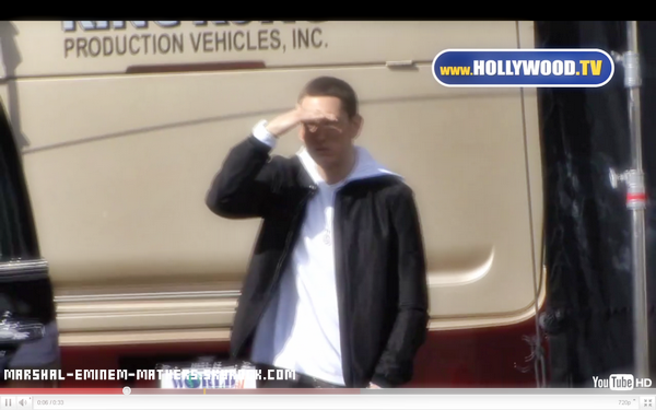Eminem Sur le set du tournage du clip de I Need a Doctor