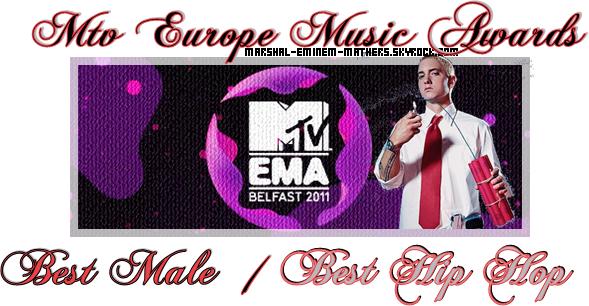 Les Nominations d'Eminem pour les MTV EMA 2011 ( Pour voter cliquez sur l'image )