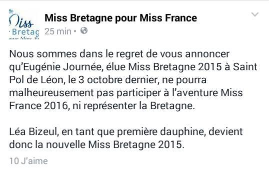 Candidate Miss France 2016