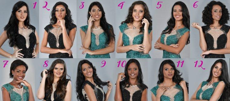 Candidates à Miss Réunion 2017