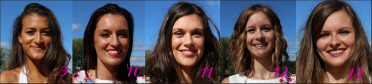 Candidates à Miss Pays de Loire 2017