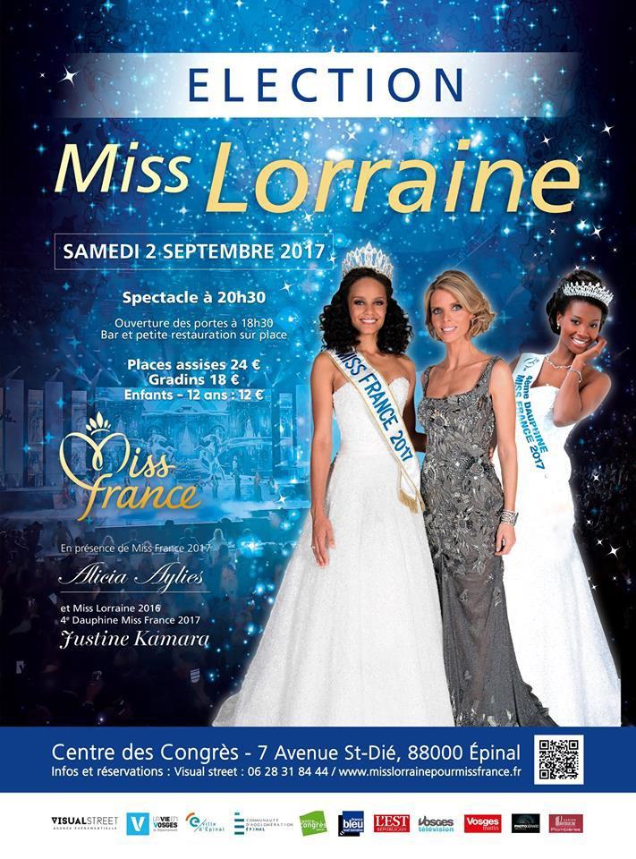 Candidates à Miss Lorraine 2017